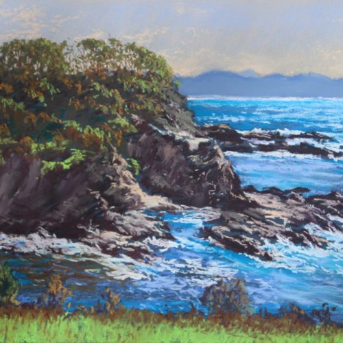 Best Painting by SCPS member - 2nd - Eric Strachan - Garden Bay Bluff