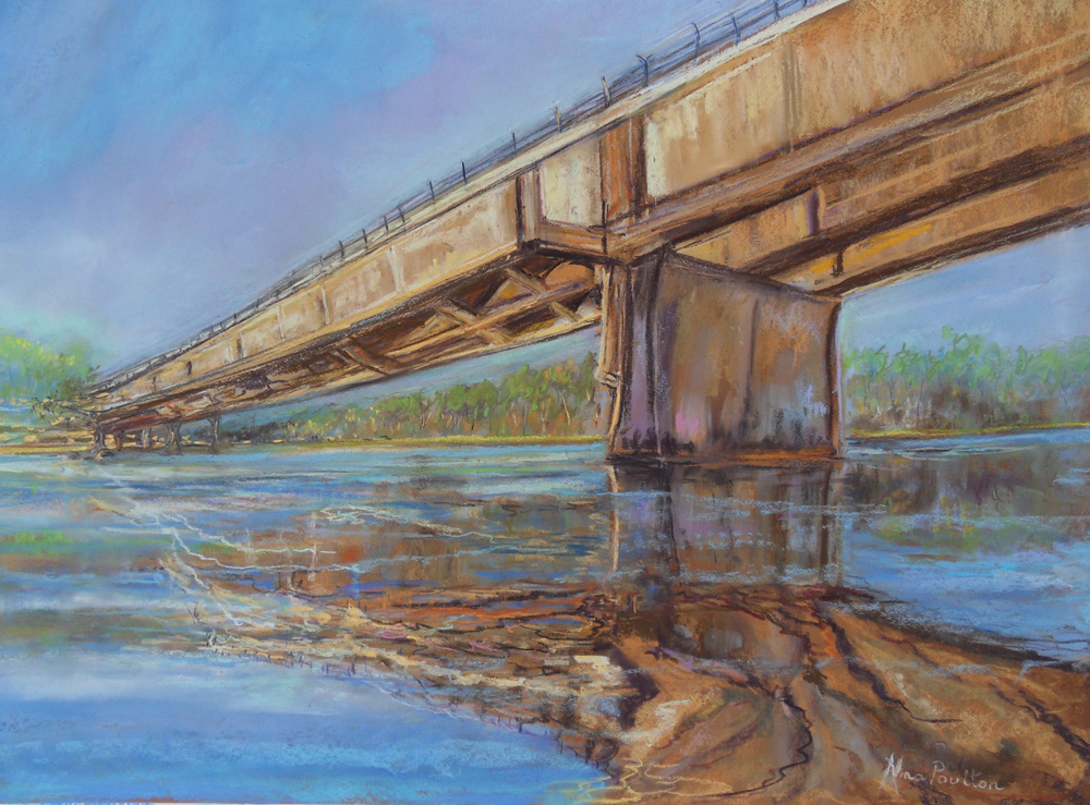Best Painting by SCPC member - 3rd - Nina Poulton - Under The Bridge