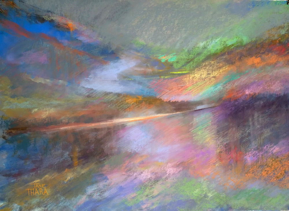 Contemporary/Abstract - 1st - Jane Ihara - The gloaming over the Loch