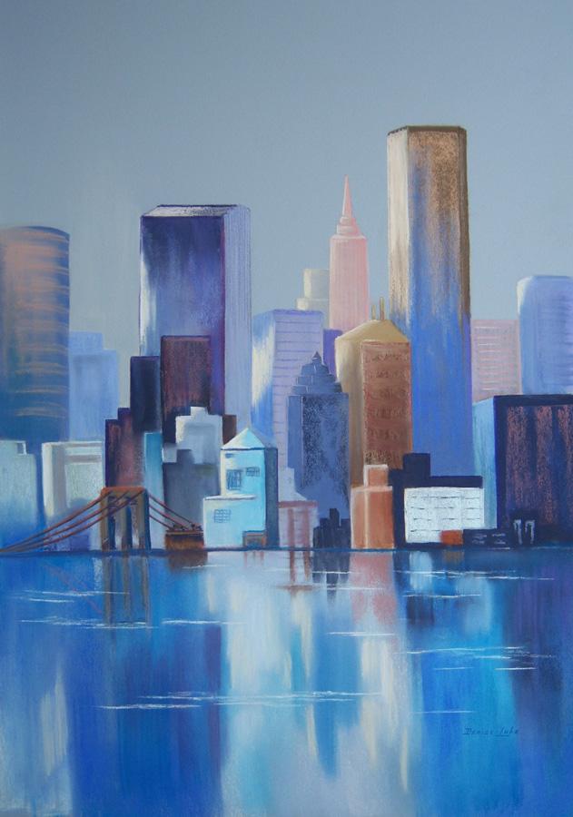 CITY BLUES - 65cm x 75cm - framed