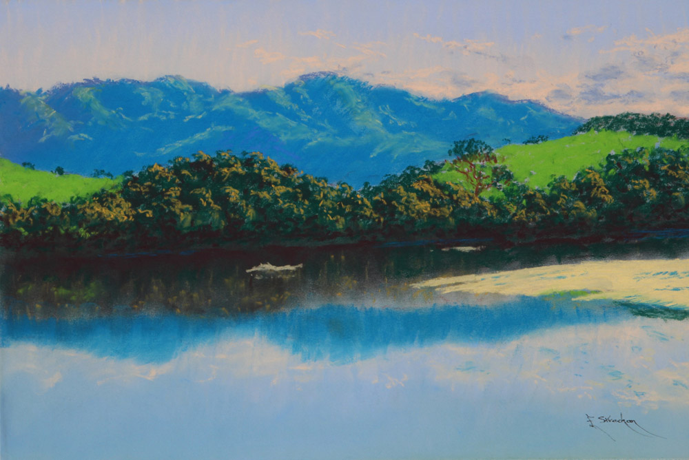 TILBA MOUNTAIN AND LAKE - COLOURFIX - Art Spectrum Soft Pastels