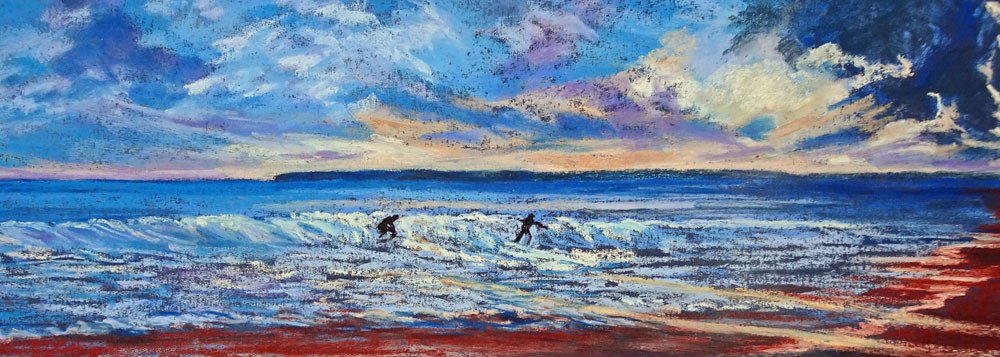 Last Wave Today - 92cmx48cm - Uart Paper with Art Spectrum Pastels
