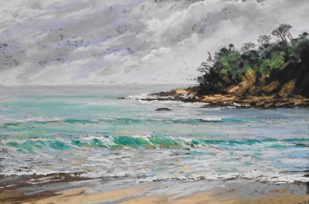 Shelley Beach - 44cmx28cm - Uart Paper with Art Spectrum Extra Soft Pastels