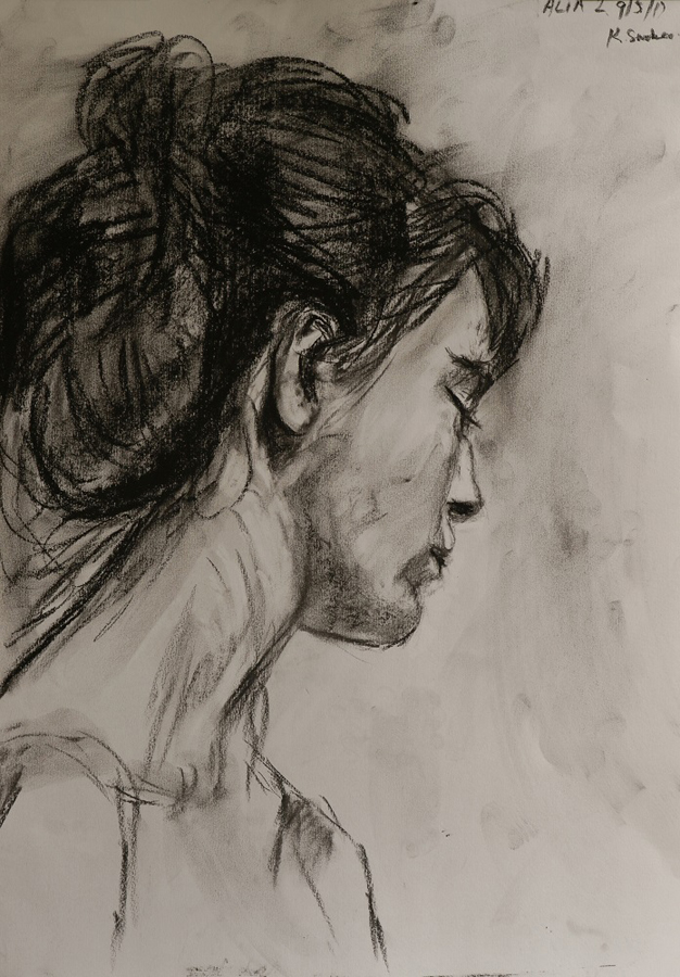Alia II. - Charcoal on cartridge paper - 59 x 42cm