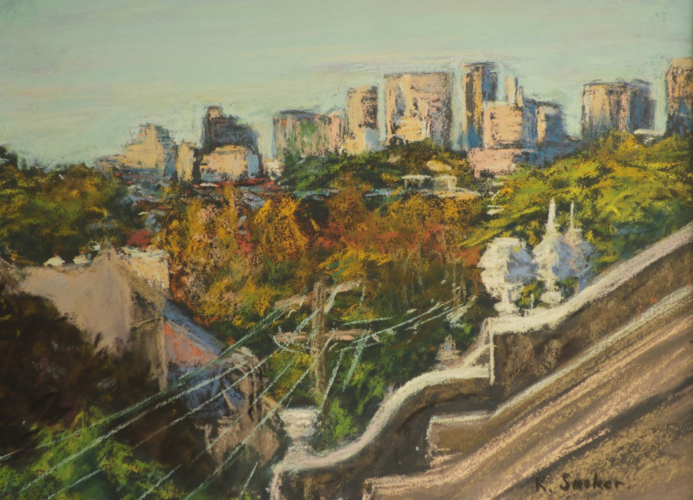Attic City Views-Late Afternoon - 9 x 12in