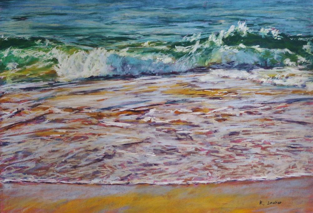 Beachscape I - Sanded paper - 50 x 70cm.