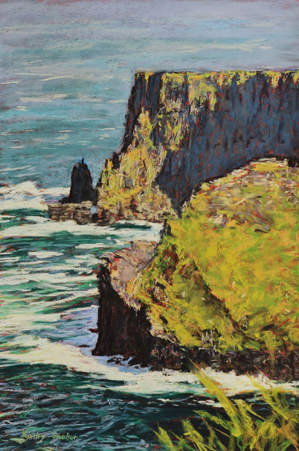Cliffs of Moher III - Sanded paper - 55 x 37cm