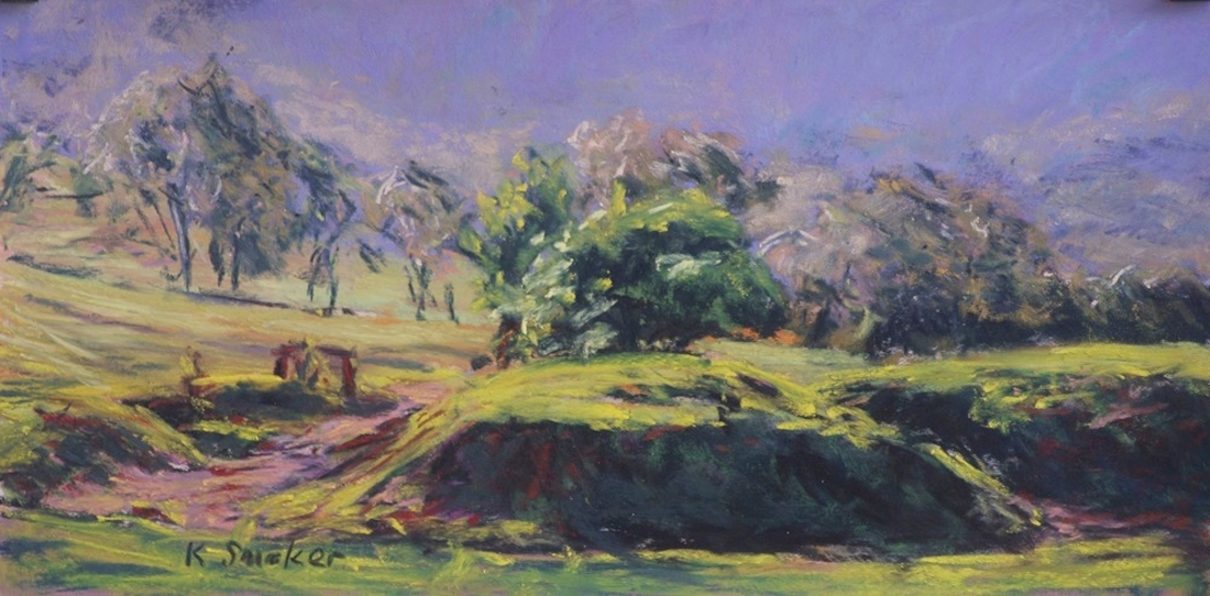 Kangaroo Valley XIX - Sanded Paper - 6 x 12in.